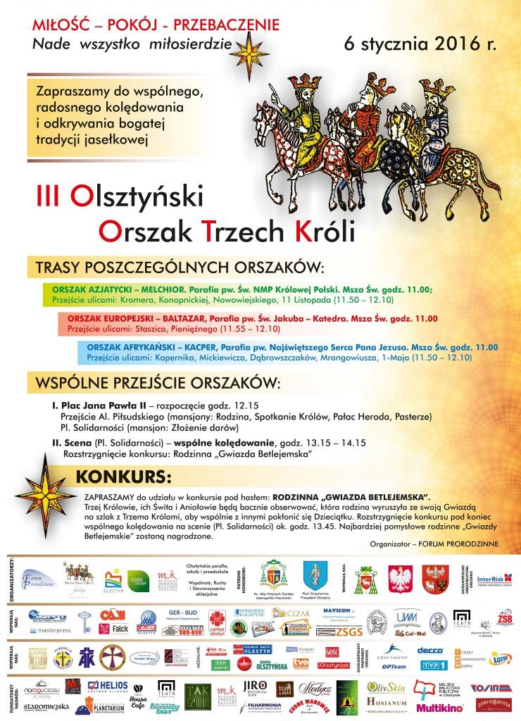 Orszak Trzech Króli - Olsztyn 2016